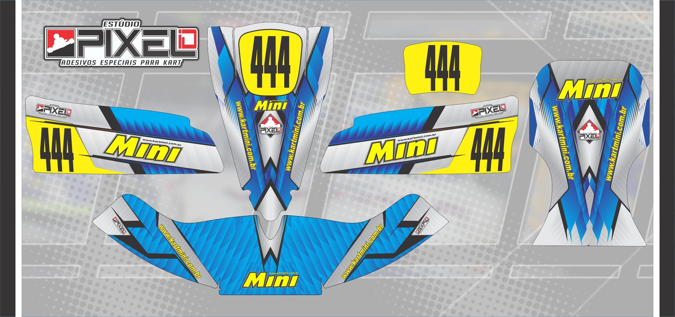 Armario Closet Planejado ~ Kit de Adesivos para Kart Mini Blue Edition Adesivos para Kart Estúdio Pixel iD