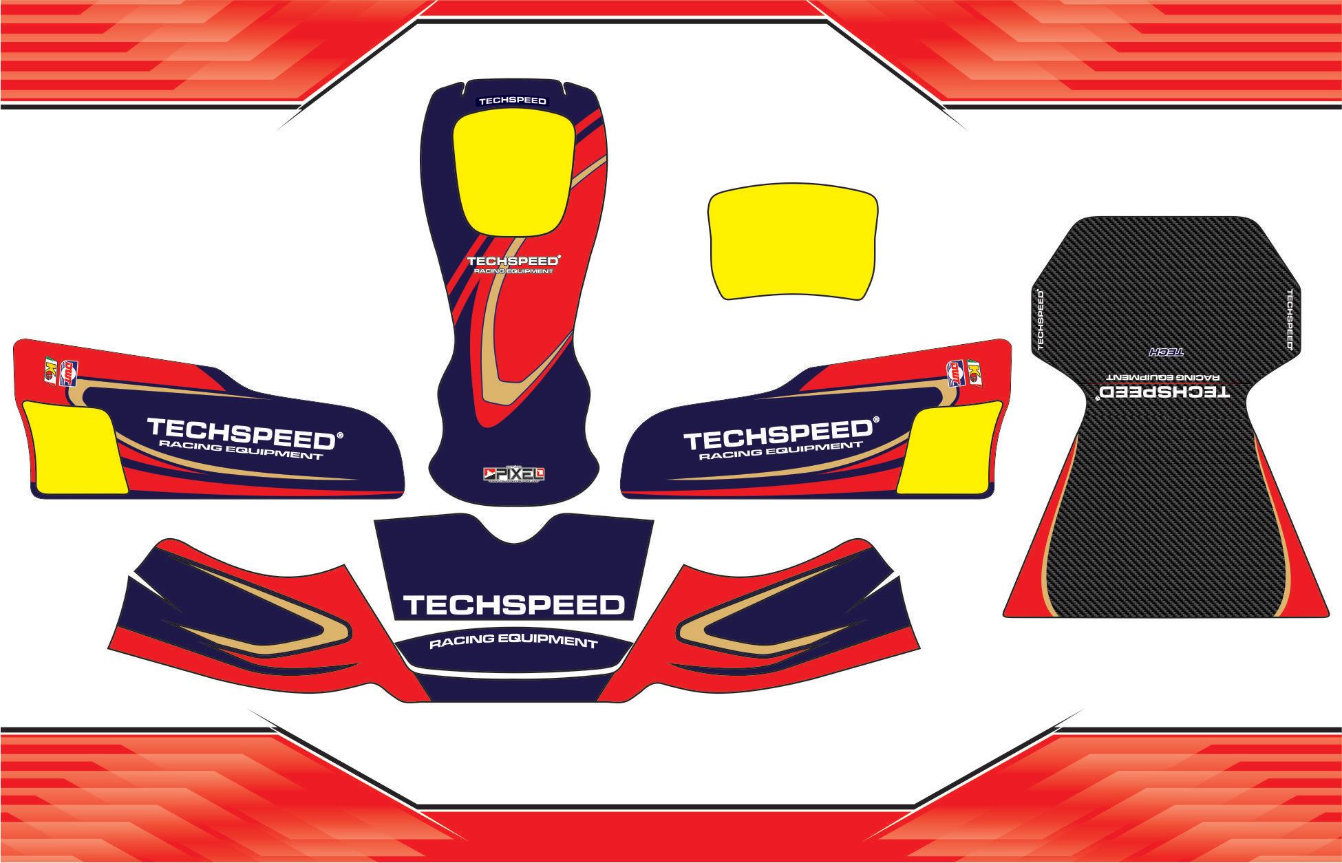 Kit Adesivos Para Kart Resinado Techspeed 2016 C